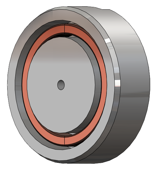 Electromagnet 3D model without resin - SG Transmission